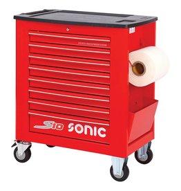 Sonic Gereedschapwagen leeg S10 8 laden rood  (RAL3001)