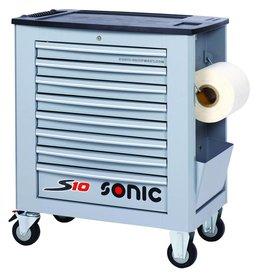 Sonic Gereedschapwagen leeg S10 8 laden grijs  (RAL7040)