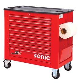 Sonic Gereedschapwagen leeg S11 8 laden rood
