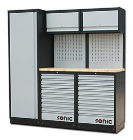 Sonic MSS 26`` hoge kast, 18 laden, ophangpaneel, klepkast (hout)