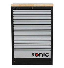 Sonic MSS 26`` Ladenkast 9 laden met houten bovenblad