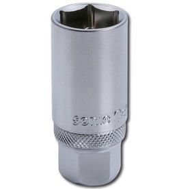 Sonic Bougiedop 3/8``, met binnenclip 18mm