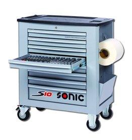 Sonic Gevulde gereedschapwagen S10 285-dlg. grijs