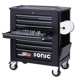 Sonic Gevulde gereedschapwagen S10 262-dlg. zwart