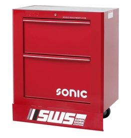 Sonic SWS 32`` Gereedschapwagen met 2 laden rood