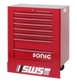 Sonic SWS 32`` Gereedschapwagen met 7 laden rood