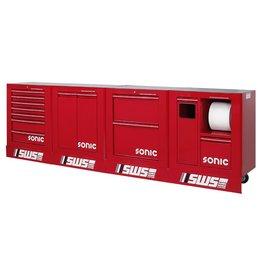Sonic SWS 128`` work station 3320mm rood