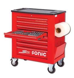 Sonic Gevulde gereedschapwagen S10 262-dlg. rood