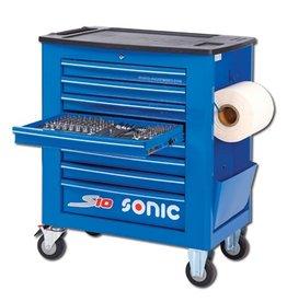 Sonic Gevulde gereedschapwagen S10 262-dlg. blauw