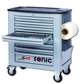 Sonic Gevulde gereedschapwagen S10 262-dlg. grijs