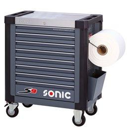 Sonic Gereedschapwagen leeg S9 8 laden donkergrijs  (RAL7011)