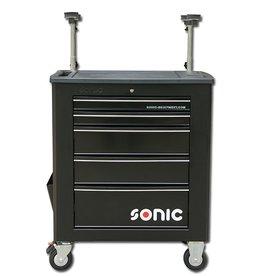 Sonic Gereedschapwagen leeg 5 laden zwart  (RAL9004)