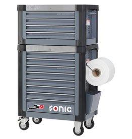 Sonic Gereedschapwagen + Topbox S9 donkergrijs  (RAL7011)