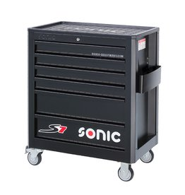 Sonic Gevulde gereedschapwagen 140-dlg. 6 laden zwart S7