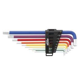 Sonic Stiftsleutelset, inbus extra lang, met kleurcodering 9-dlg.