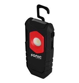 Sonic Werklamp met COB LED 2W, 3,7V, max 180 Lumen