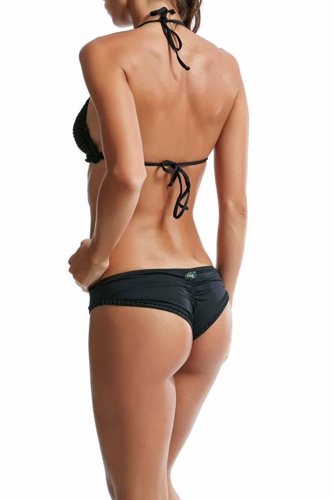F**K Zwart triangle gehaakte bikini