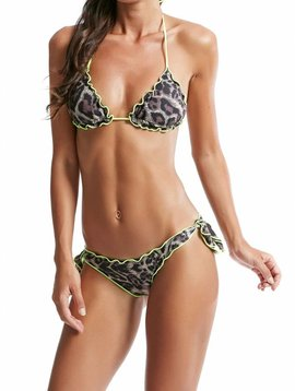 F**K triangle leopard bikini