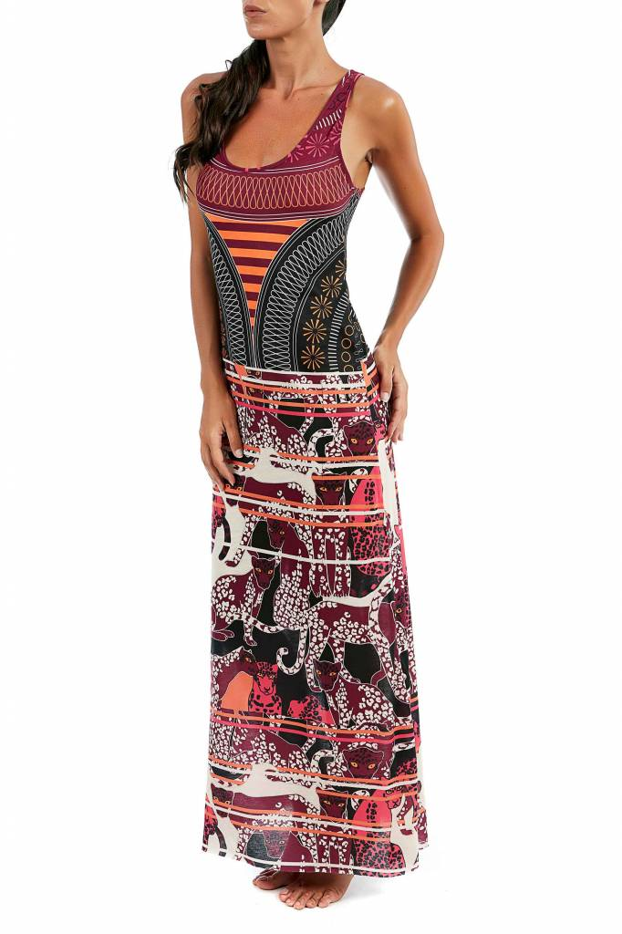 F**K Beach dress, lang,multi colour