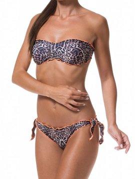F**K Bandeau bikini leopard print oranje bies  620