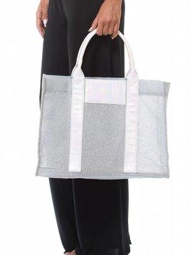 F**K Zilveren ( strand) tas