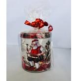 Stroopwafels in Blik Kerstman