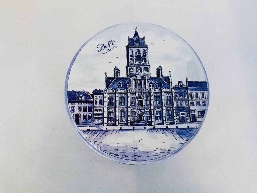 Stroopwafels in Blik Delftsblauw Delft