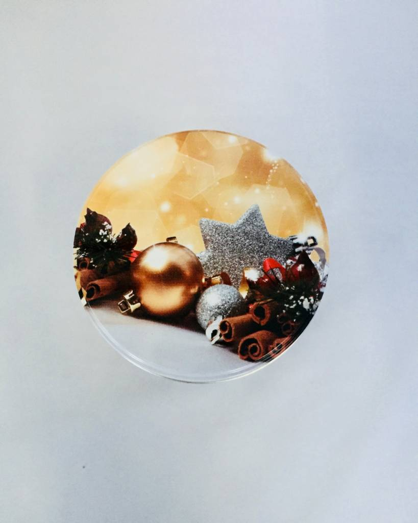 Stroopwafels in Blik Kerstbal