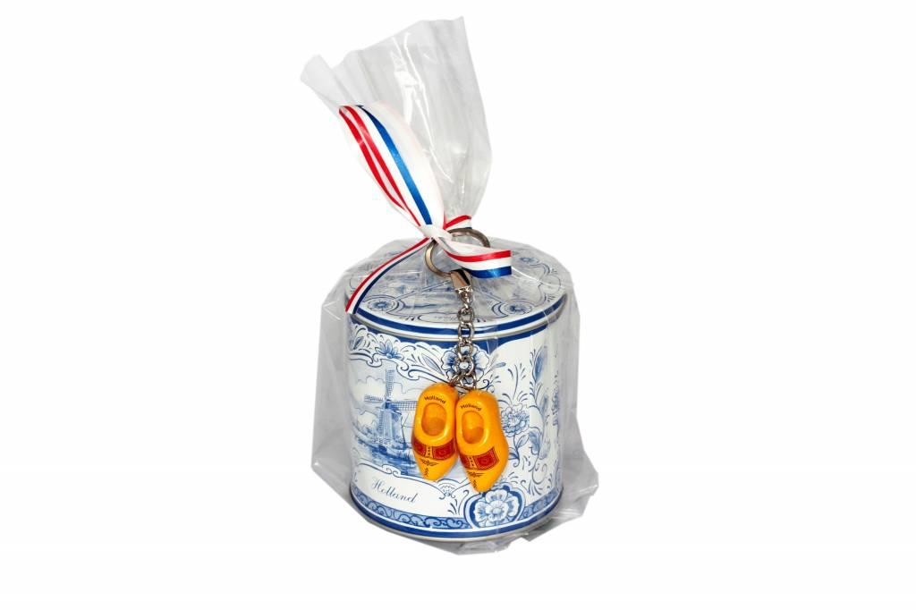 Stroopwafels in Blik Traditioneel Delfts Blauw