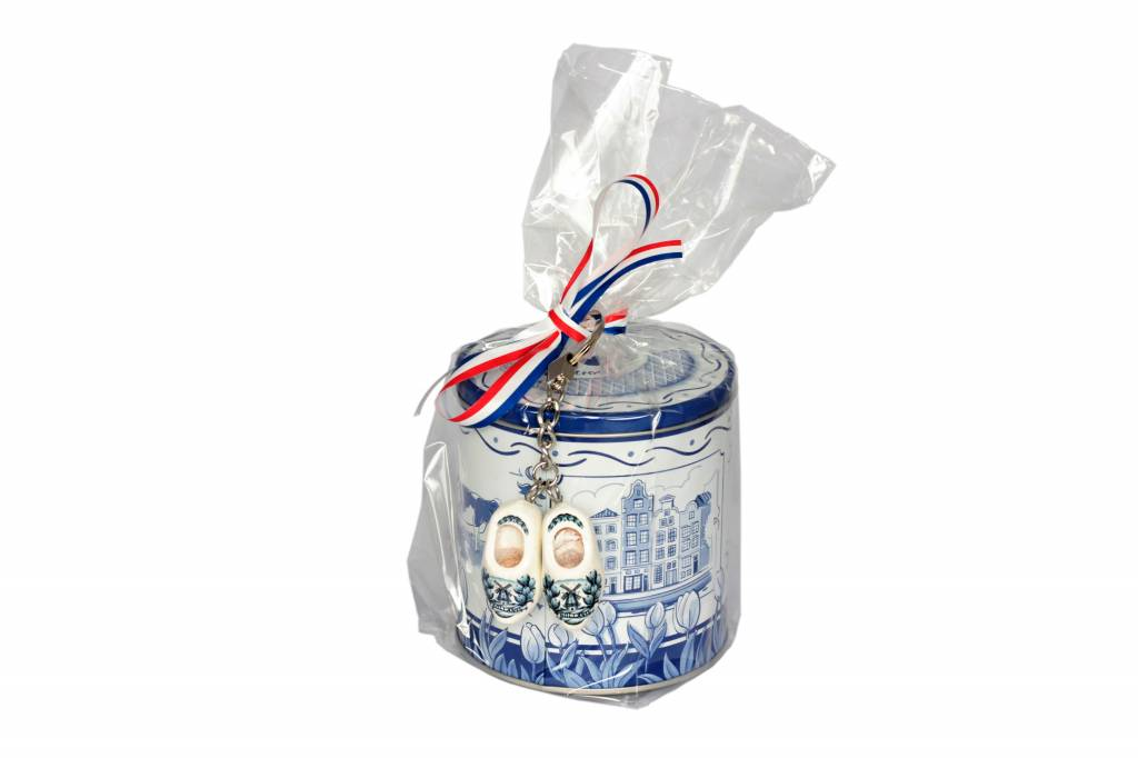 Stroopwafels in blik I love Delfts Blauw