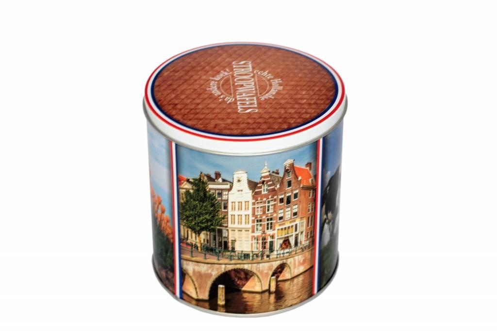 Stroopwafels in Blik langs Hollandse plaatsen