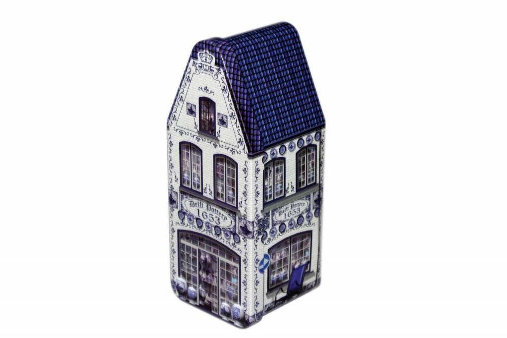 Stroopwafels in blik Delftsblauw winkel