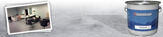 Marmoleumvloer verven