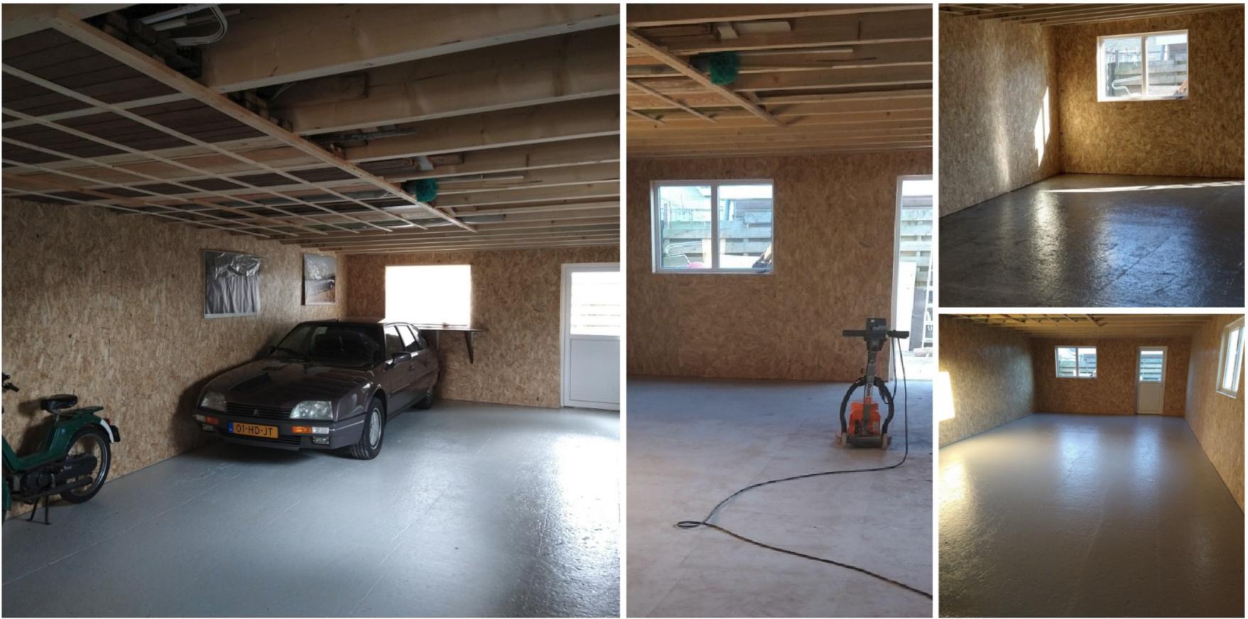 Nieuwe garagevloer verven