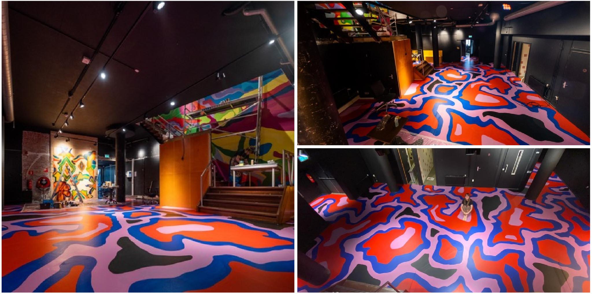 Vloer verven in verschillende kleuren