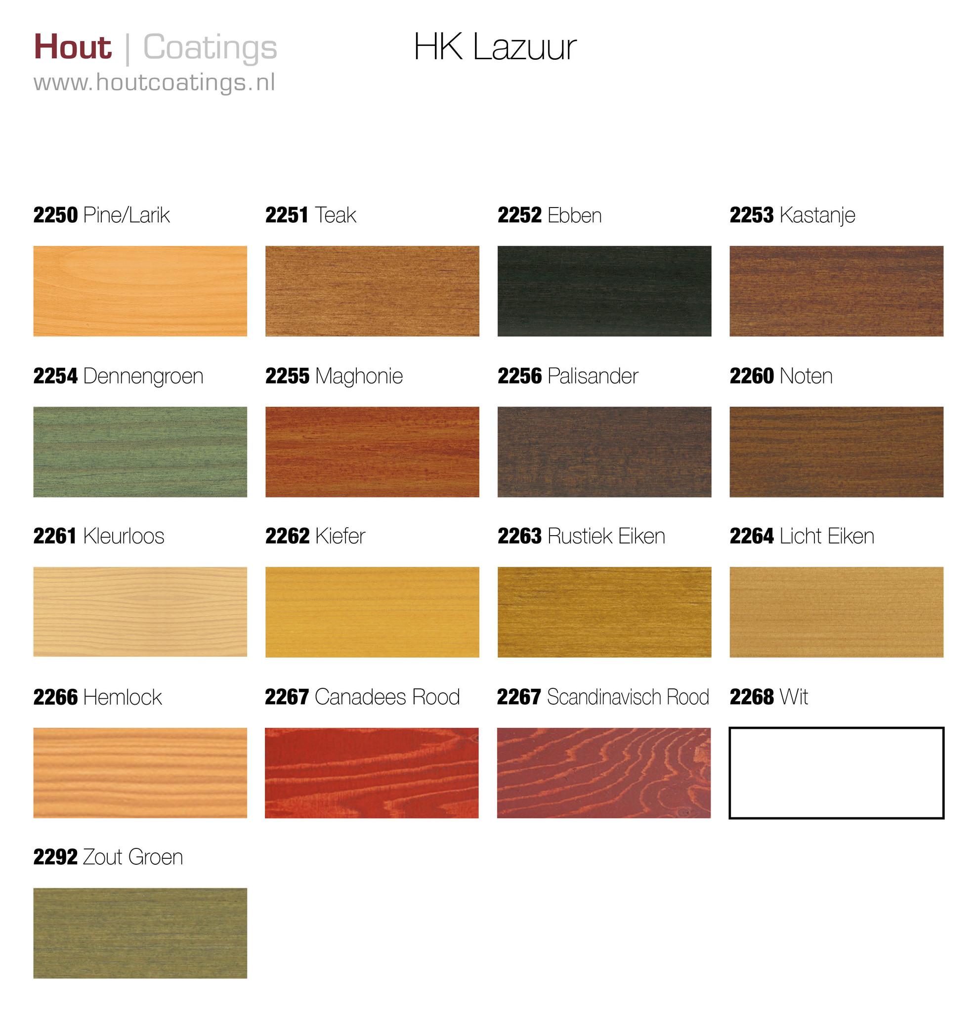 Remmers kleuren HK lazuur