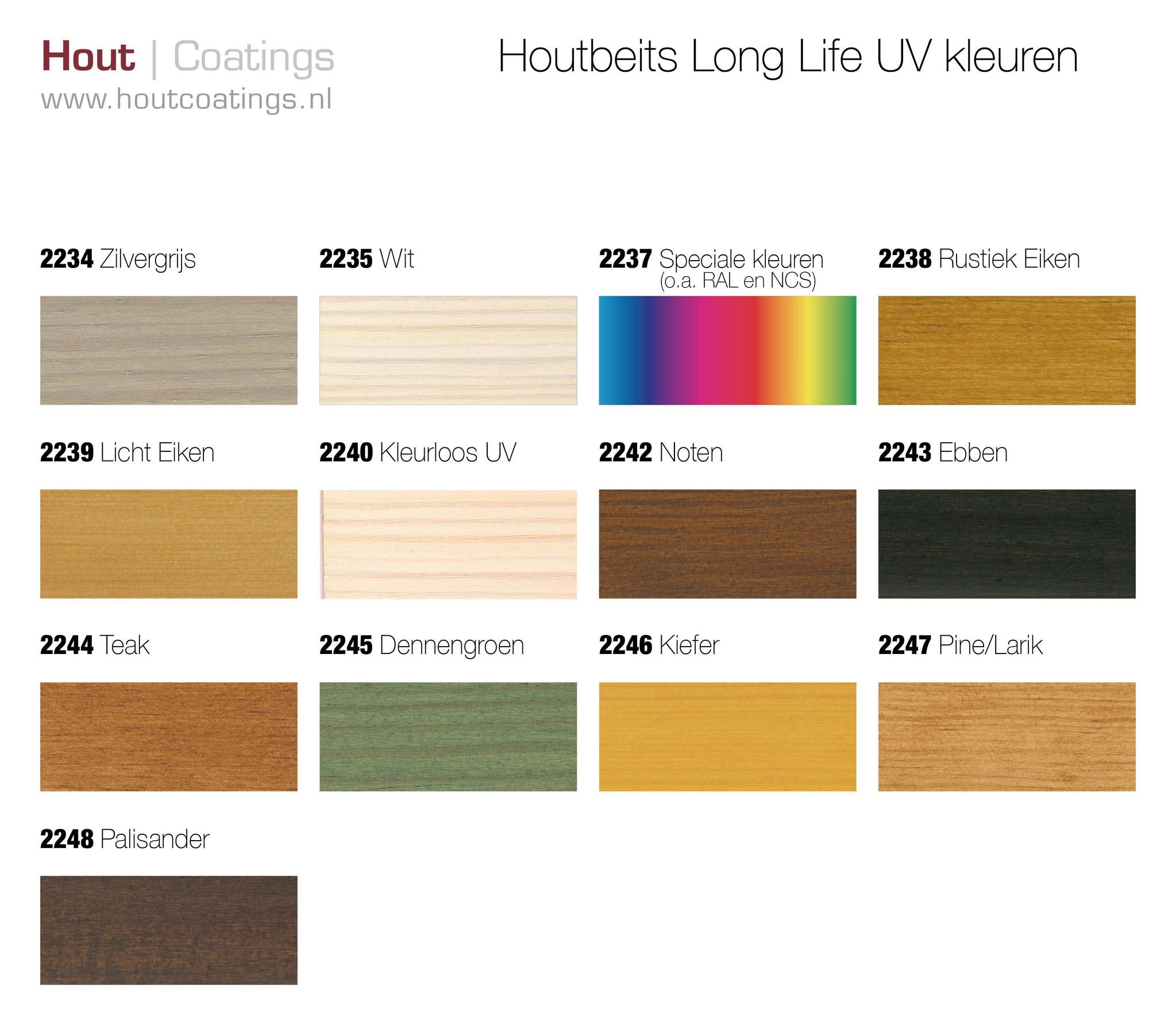 Remmers L-Lazuur UV Kleuren