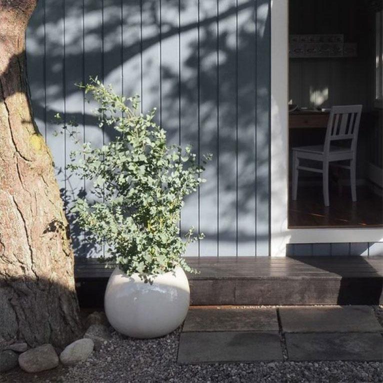 houten huis dekkend beitsen