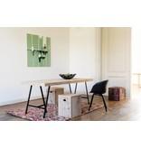 """PURE wood design """"Lystrup"""" Table en pin recyclé au style industriel"""