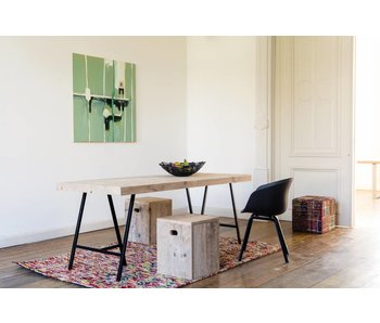 "PURE wood design ""Lystrup"" Table au style industriel"