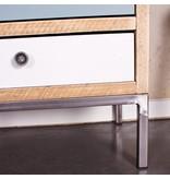 PURE wood design 'Skagen' Kast steigerhout/stalen poot