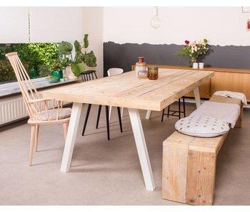 PURE wood design 'Arendal' industriele tafel steigerhout schuine poot