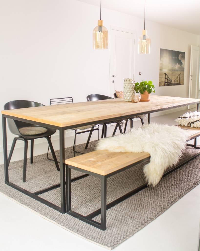 Industriele Meubels Belgie.Brandal Industriele Tafel Steigerhout Stalen Frame Pure Wood Design