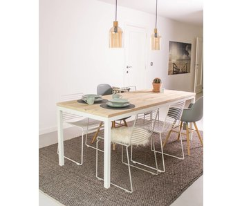 "PURE wood design ""Flora"" Table scandinave en pin recyclé"
