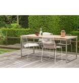 PURE wood design 'Alta Outdoor' Industriele tafel steigerhouten blad/RVS frame