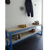 PURE wood design Banc en bois d'échafaudage en acier