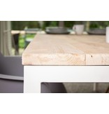 PURE wood design 'Flora Outdoor' tuintafel steigerhout rechte poten staal