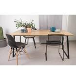 PURE wood design 'Ekberg' eikenhouten tafel/onderstel met schuine poten