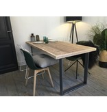 "PURE wood design ""Oppland"" Table en bois solide au style industriel"