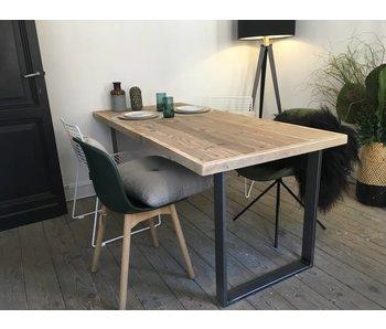 PURE wood design 'Oppland' industriele tafel steigerhout/u-poot